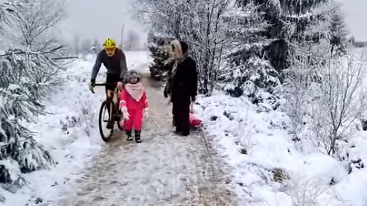 Belgia. Rowerzysta kopnął 5-latkę, bo nie zdążyła zejść z drogi [WIDEO]