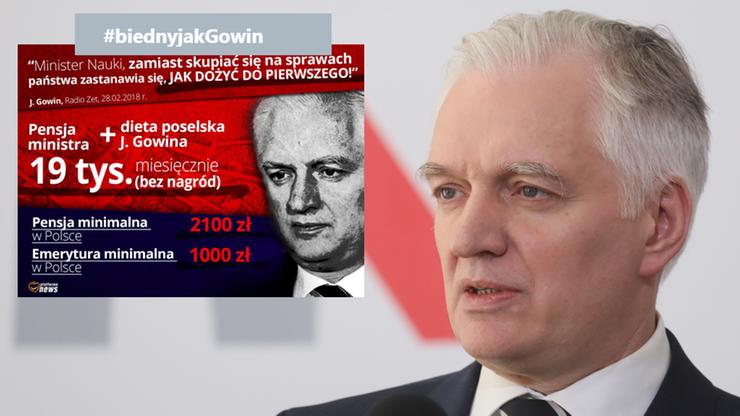 #biednyjakGowin. Internauci bezlitośni po wypowiedzi ministra, ten przeprasza