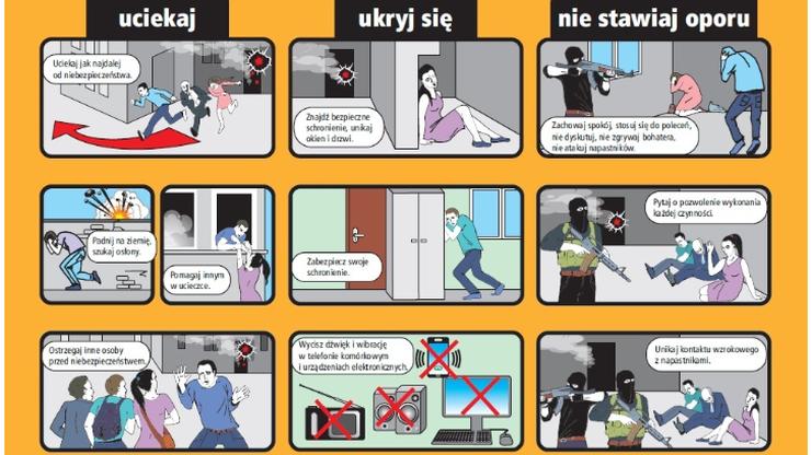 Zamach - jak się zachować, aby przeżyć. Akcja stołecznego ratusza w komunikacji miejskiej