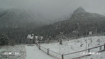Minus cztery stopnie i 3 cm śniegu na Kasprowym Wierchu. W Tatrach zima