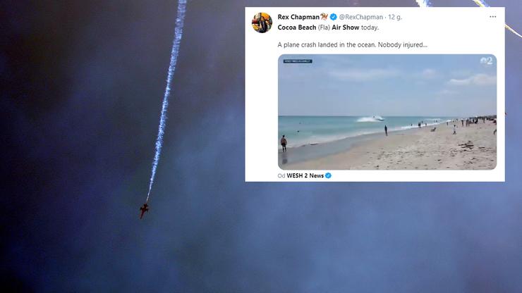 Wypadek podczas Air Show. Samolot spadł do oceanu [WIDEO]