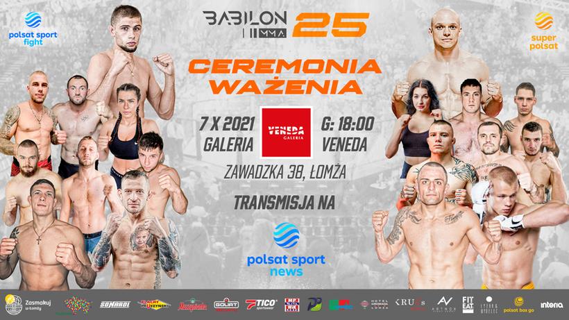 Babilon MMA 25: Ceremonia ważenia. Transmisja TV i stream online